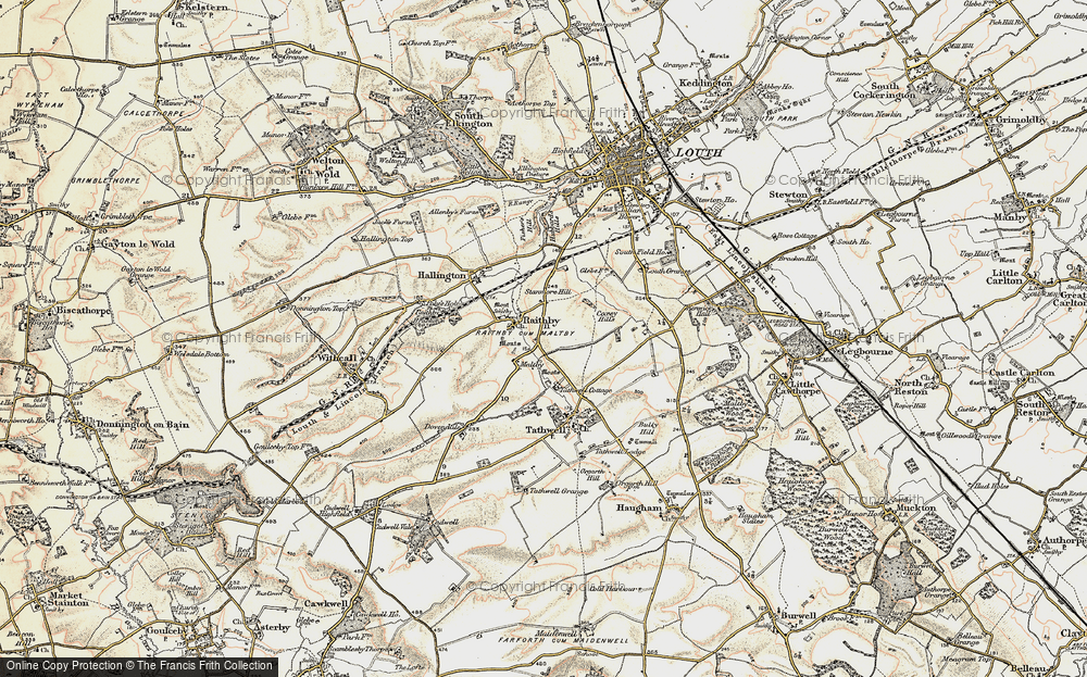 Old Map of Historic Map covering Coxey Hills in 1902-1903