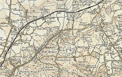 Old map of Rake in 1897-1900