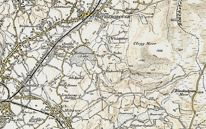 Old map of Whittaker in 1903