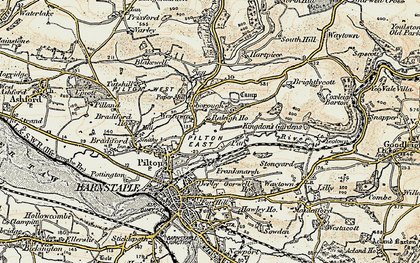 Old map of Westaway in 1900