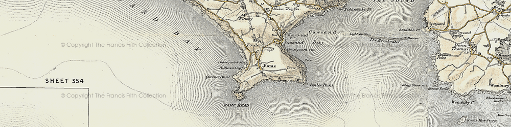 Old map of Lillery's Cove in 1899-1900