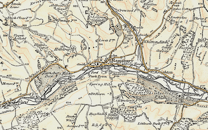 Old map of White's Hill in 1897-1899