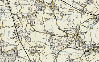 Old map of Allesborough Hill in 1899-1901