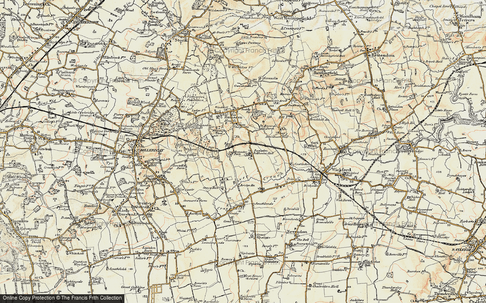 Old Map of Ramsden Bellhouse, 1898 in 1898