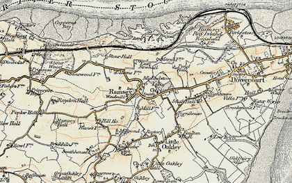 Old map of Ramsey in 1898-1899