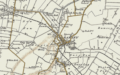 Old map of Ramsey in 1901