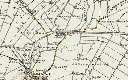 Old map of Ash Drain in 1901