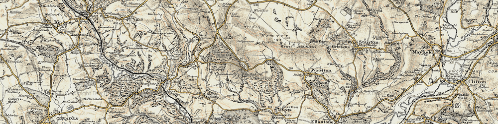 Old map of Wootton Park in 1902