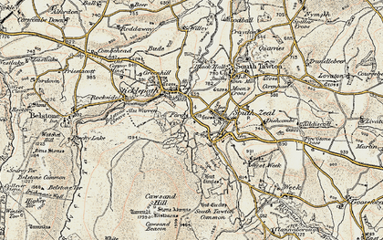 Old map of White Hill in 1899-1900