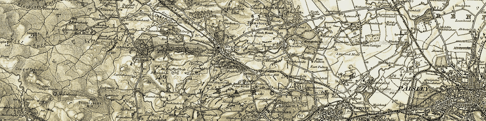 Old map of Whinnerston in 1905-1906