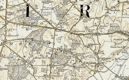 Old map of Lin Brook in 1902