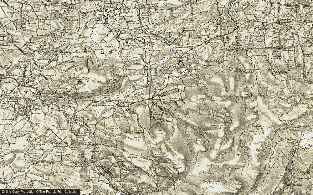 Old Map of Historic Map covering Ashentree in 1904-1906