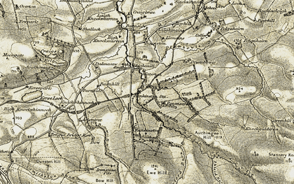 Old map of Auchingee Hill in 1904-1906