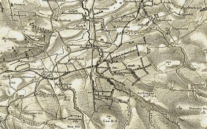 Old map of Shield Burn in 1904-1906