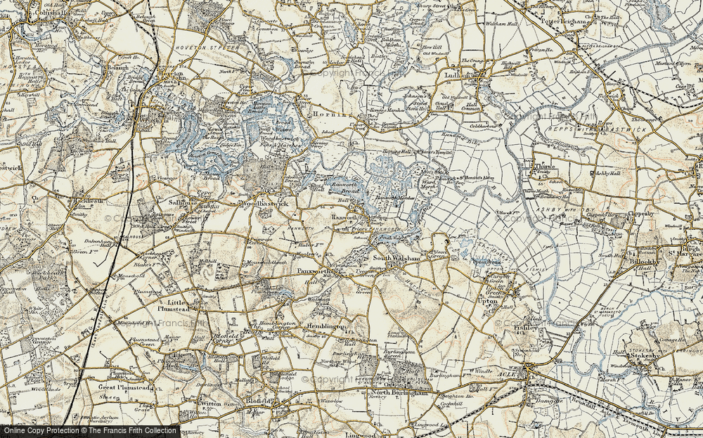 Old Map of Ranworth, 1901-1902 in 1901-1902