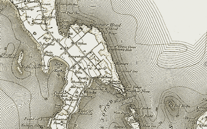 Old map of Lavey Sound in 1912
