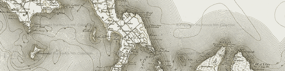 Old map of Whitelet in 1912