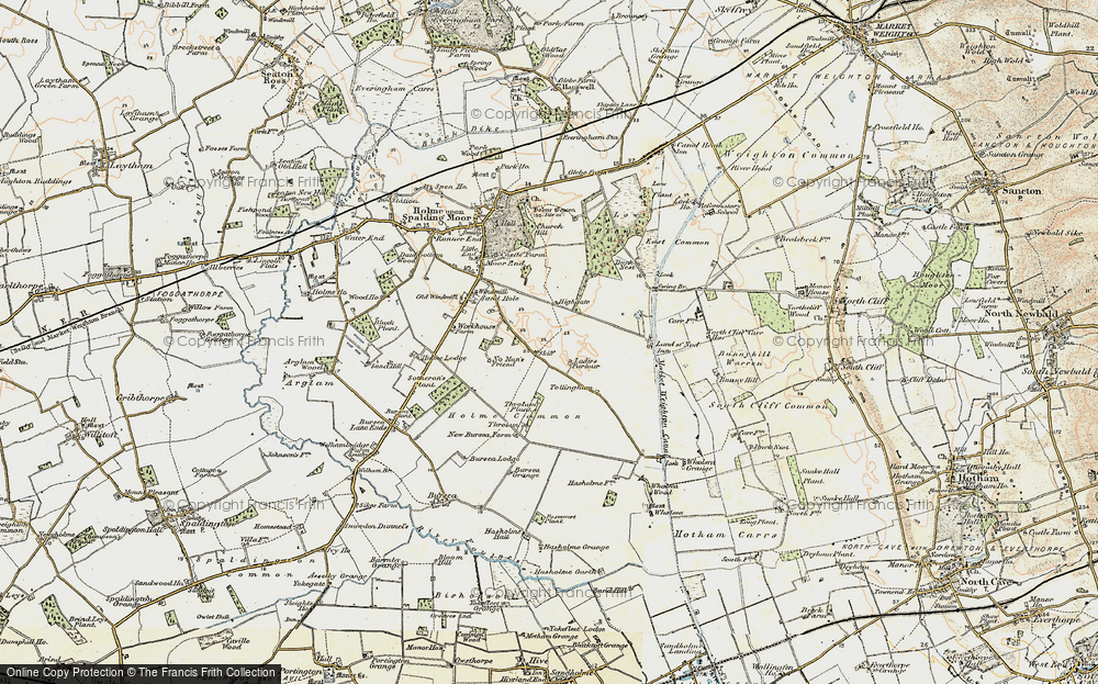 Old Map of Historic Map covering Woodlands in 1903