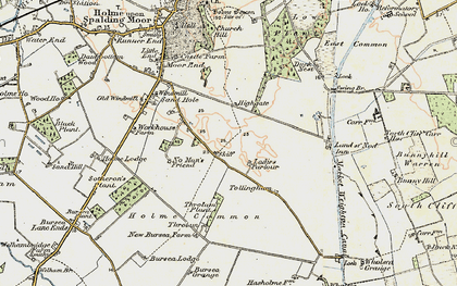 Old map of Tollingham in 1903