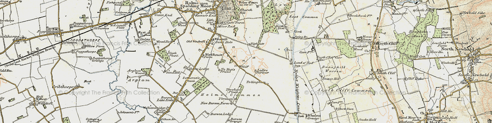 Old map of Wholsea Grange in 1903