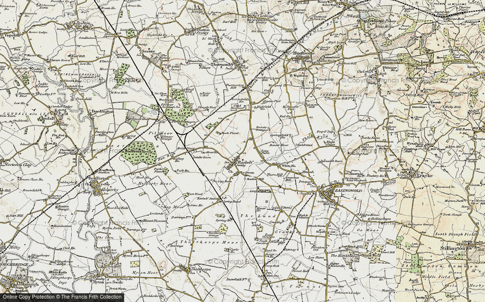Old Map of Historic Map covering Baldrence in 1903-1904