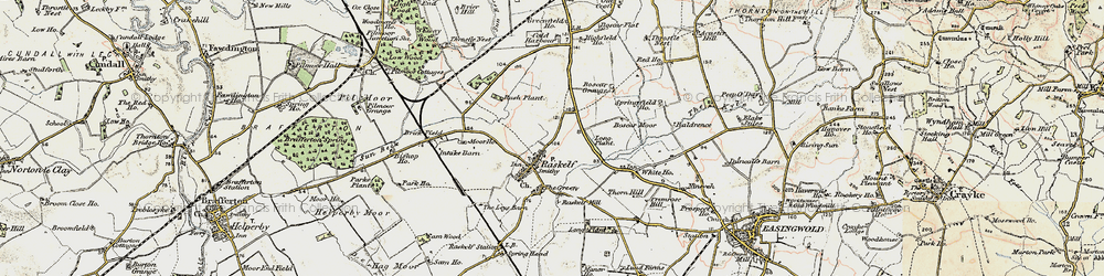 Old map of Leys Barn in 1903-1904