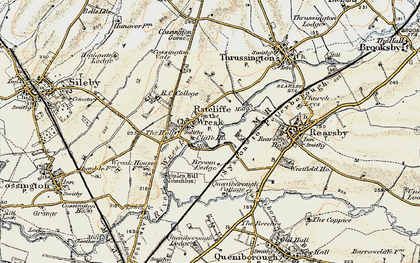 Old map of Lewin Br in 1902-1903