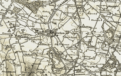 Old map of Ardglassie in 1909-1910