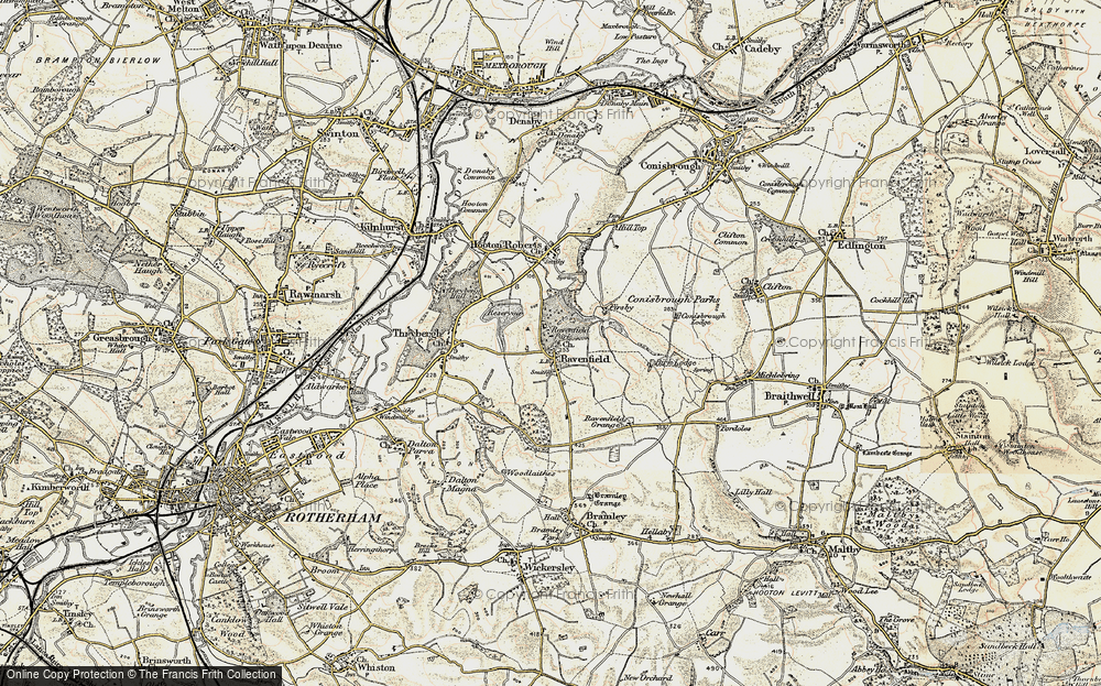 Old Maps of Ravenfield - Francis Frith