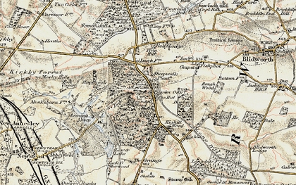 Old map of Abbey Wood in 1902-1903
