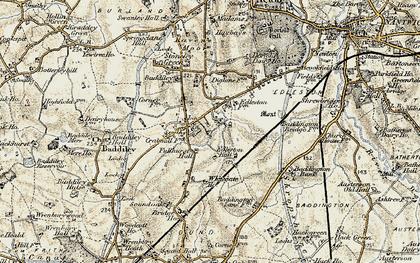 Old map of Baddiley Corner in 1902