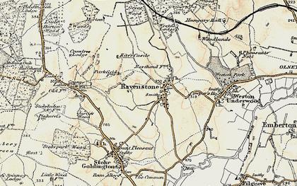 Old map of Ravenstone in 1898-1901