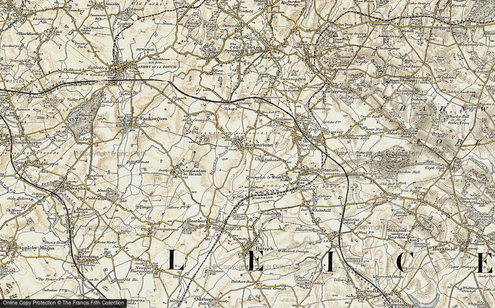 Old Map of Historic Map covering Alton Grange in 1902-1903