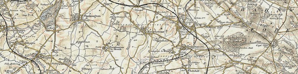 Old map of Alton Grange in 1902-1903
