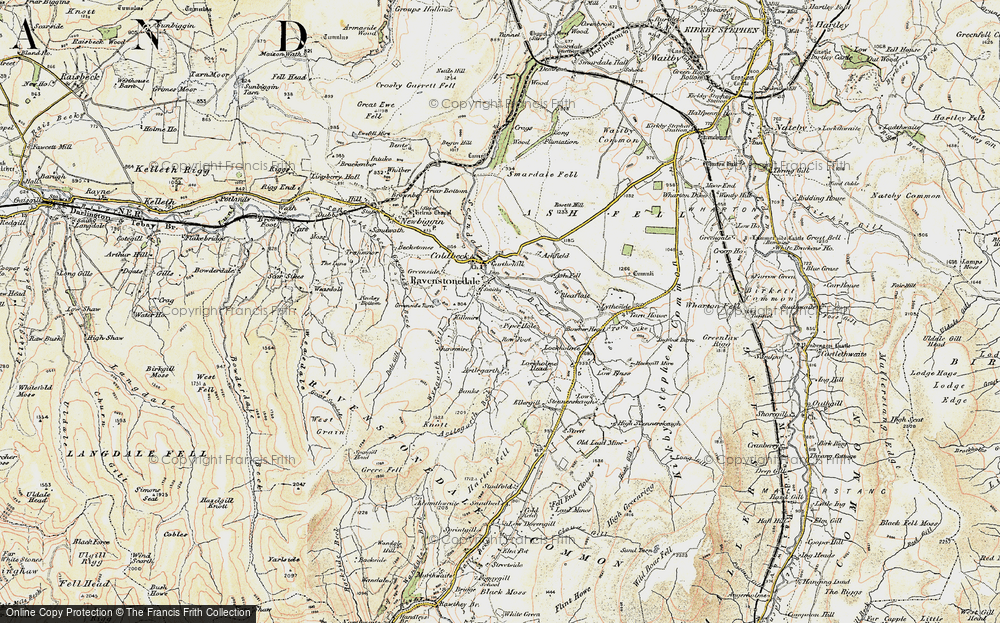 Old Map of Historic Map covering Ash Fell in 1903-1904