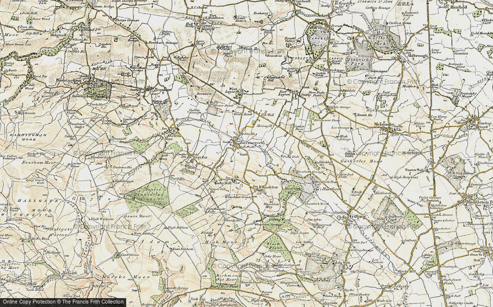 Old Map of Historic Map covering Tofta Ho in 1903-1904