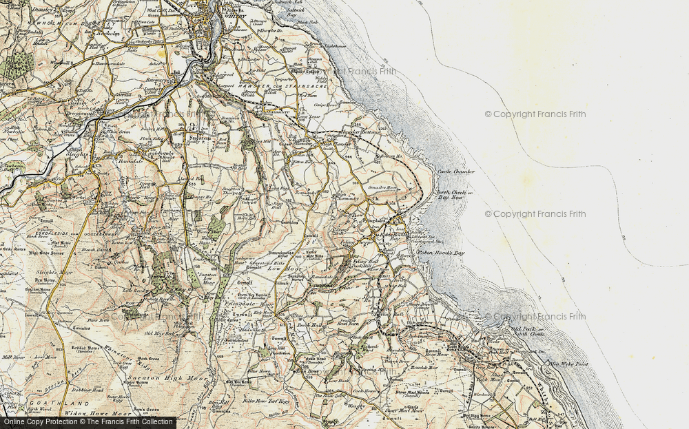 Old Map of Historic Map covering Latter Gate Hills in 1903-1904