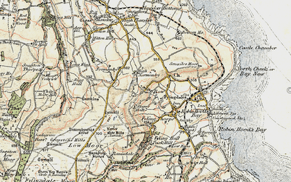 Old map of Latter Gate Hills in 1903-1904