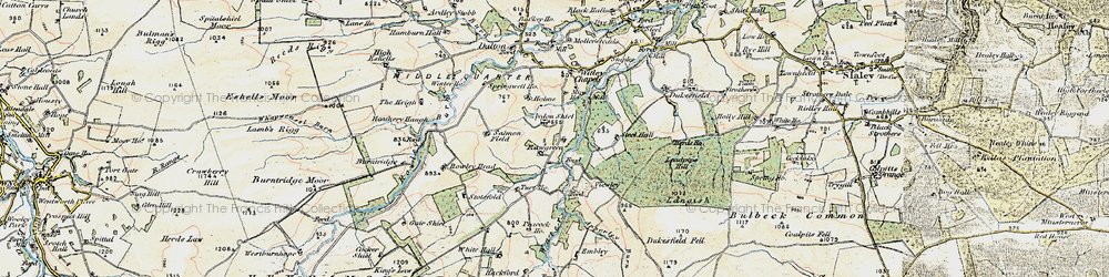 Old map of White Hall in 1901-1904