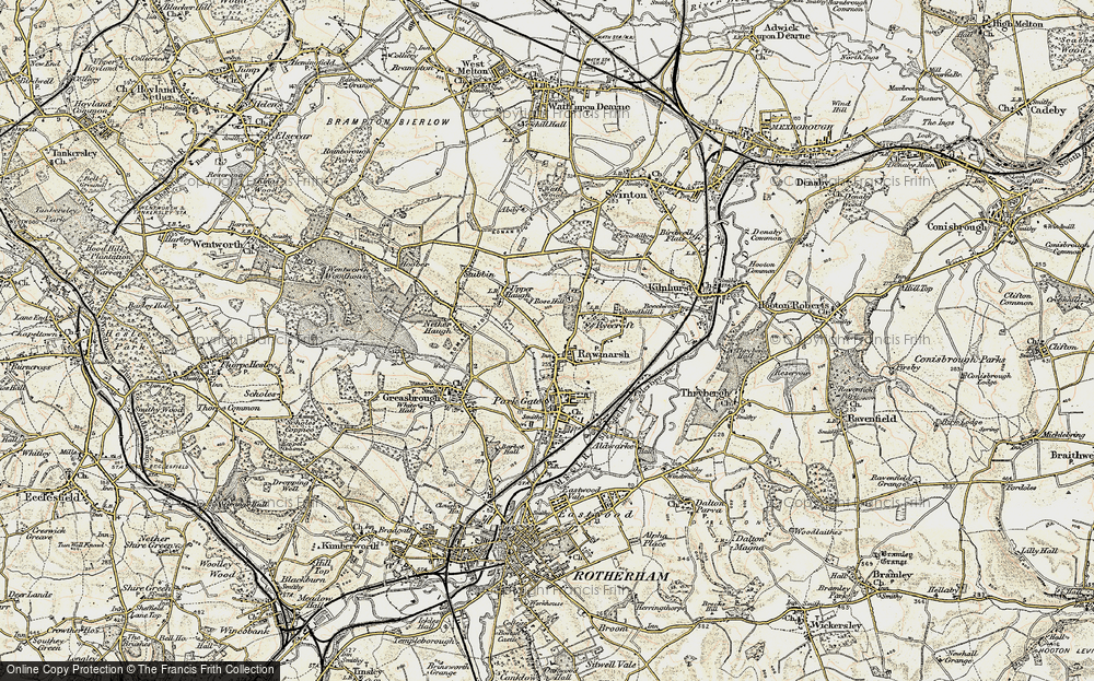 Old Map of Rawmarsh, 1903 in 1903