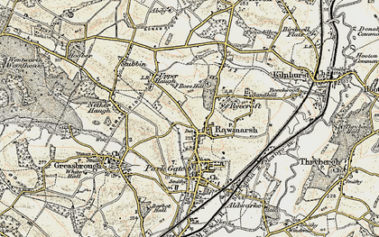 Old map of Rawmarsh in 1903