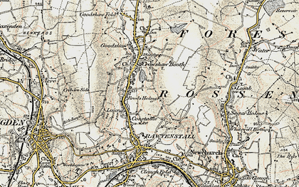 Old map of Rawtenstall in 1903