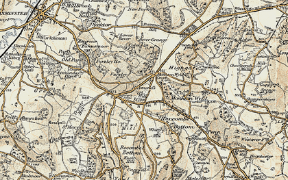 Old map of Whitty Hill in 1898-1899