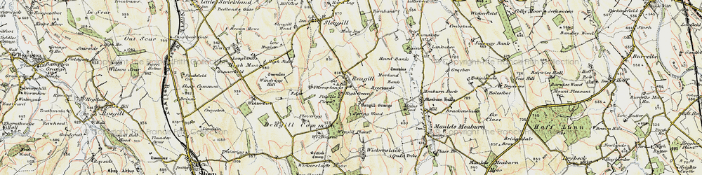 Old map of Windrigg Hill in 1901-1904