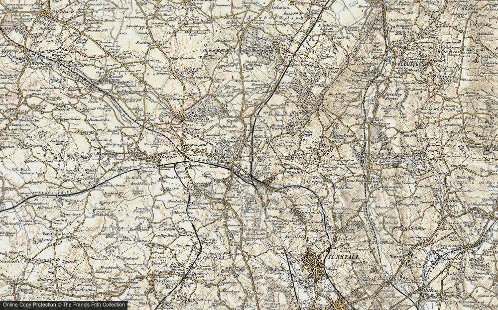 Old Map of Historic Map covering Lawton Hall in 1902-1903