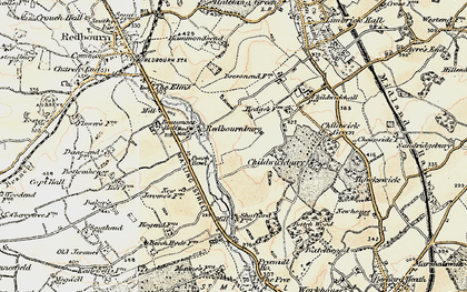 Old map of Redbournbury in 1898