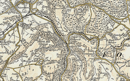 Old map of Redbrook in 1899-1900