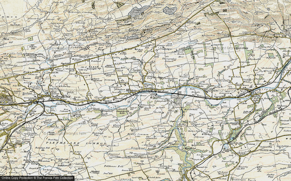 Old Map of Historic Map covering Bankhead in 1901-1904