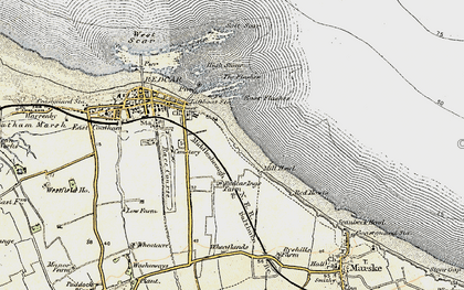 Old map of Redcar in 1903-1904