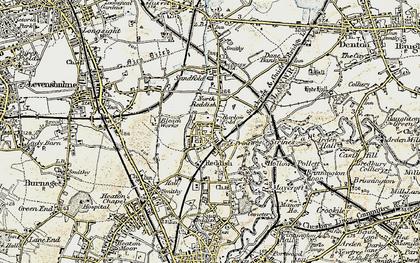 Old map of Reddish in 1903
